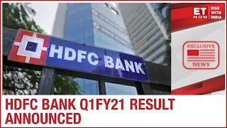 HDFC Bank Q1FY21 result out; profit rises 20% during the worst-hit quarter by COVID