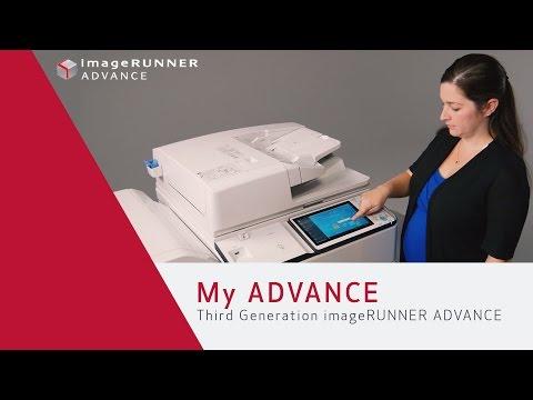 Advanced Personalization with My ADVANCE - Third Generation imageRUNNER ADVANCE