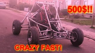 Homemade 600cc KAWASAKI BUGGY/Crosskart build+test