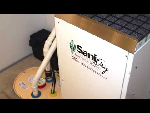 SaniDry Dehumidifier vs. Generic Dehumidifier | Complete Basement Systems of MN.