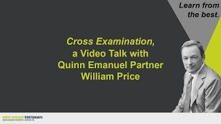 """Cross Examination"" with Partner William Price"