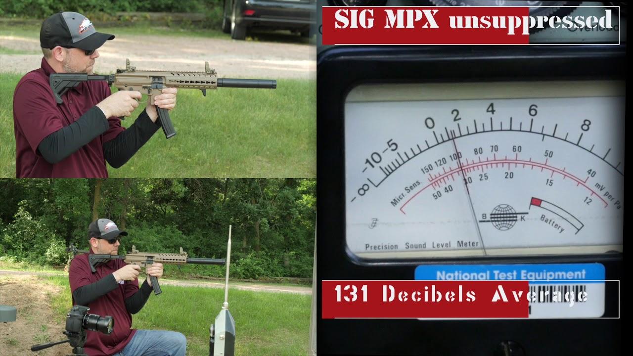 SIG MPX Silencer Testing 9mm