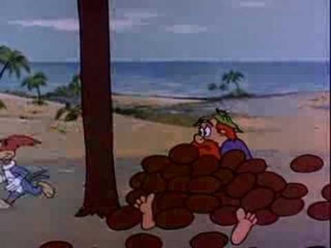 gratis download video - Woody Woodpecker - Coo Coo Nuts - Pica-pau Tropical English