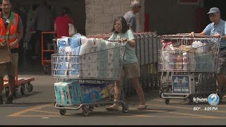 Residents Stock Up On Emergency Supplies