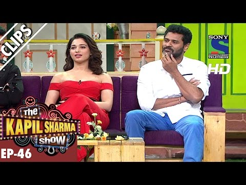 Tamanna Bhatia and Prabhu Deva in the Kapil Show - The Kapil Sharma Show - Ep.46 -25th Sep 2016