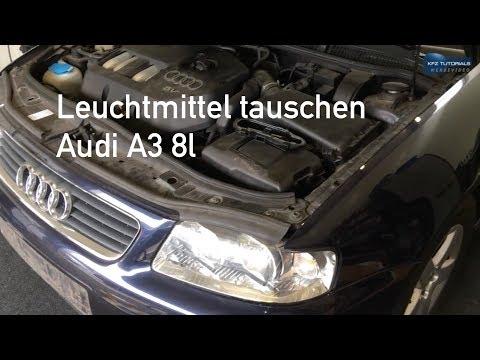 Leuchtmittel wechseln, tauschen Audi A3 8l