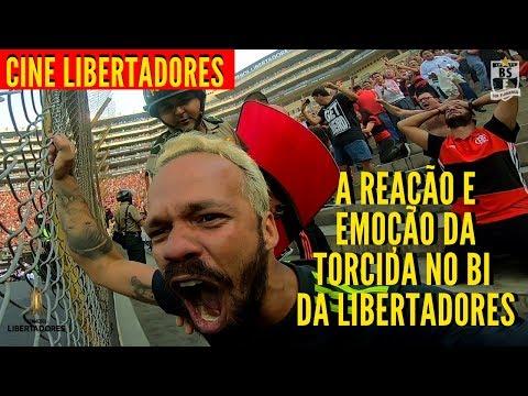 """""""CINE LIBERTADORES - A REAÇÃO E A EMOÇÃO DA TORCIDA NA ARQUIBANCADA EM FLAMENGO 2X1 RIVER PLATE"""" Barra: Nação 12 • Club: Flamengo"""