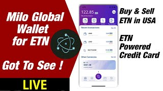 Electroneum: New Milo Global Wallet for ETN - Buy & Sell ETN in USA at Good Price