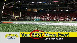 CBS4 NFL Dolphins vs Falcons Primetime Game Good Greek Scoreboard Logo2 3rd Qtr & Animated Snipe