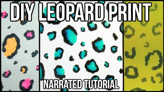 How To Draw EASY LEOPARD PRINT   NARRATED TUTORIAL