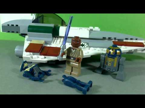 Vidéo LEGO Star Wars 7868 : Mace Windu's Jedi Starfighter