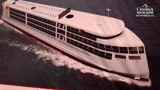 Киль четырехпалубного круизного лайнера «Россия» заложили на заводе «Красное Сормово»