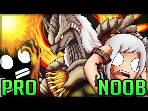 HUNTING THE GOD OF FIRE - Pro and Noob VS God Eater 3! #godeater3 (Special Proob)