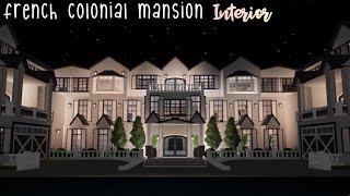 French Colonial Mansion *interior* | Doggoisss | Bloxburg Builds