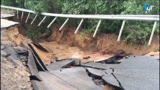 Проливной дождь стал причиной ЧС сразу в трех районах области