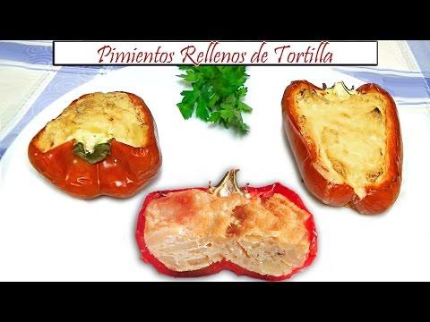 Pimientos Rellenos de Tortilla | Receta de Cocina en Familia