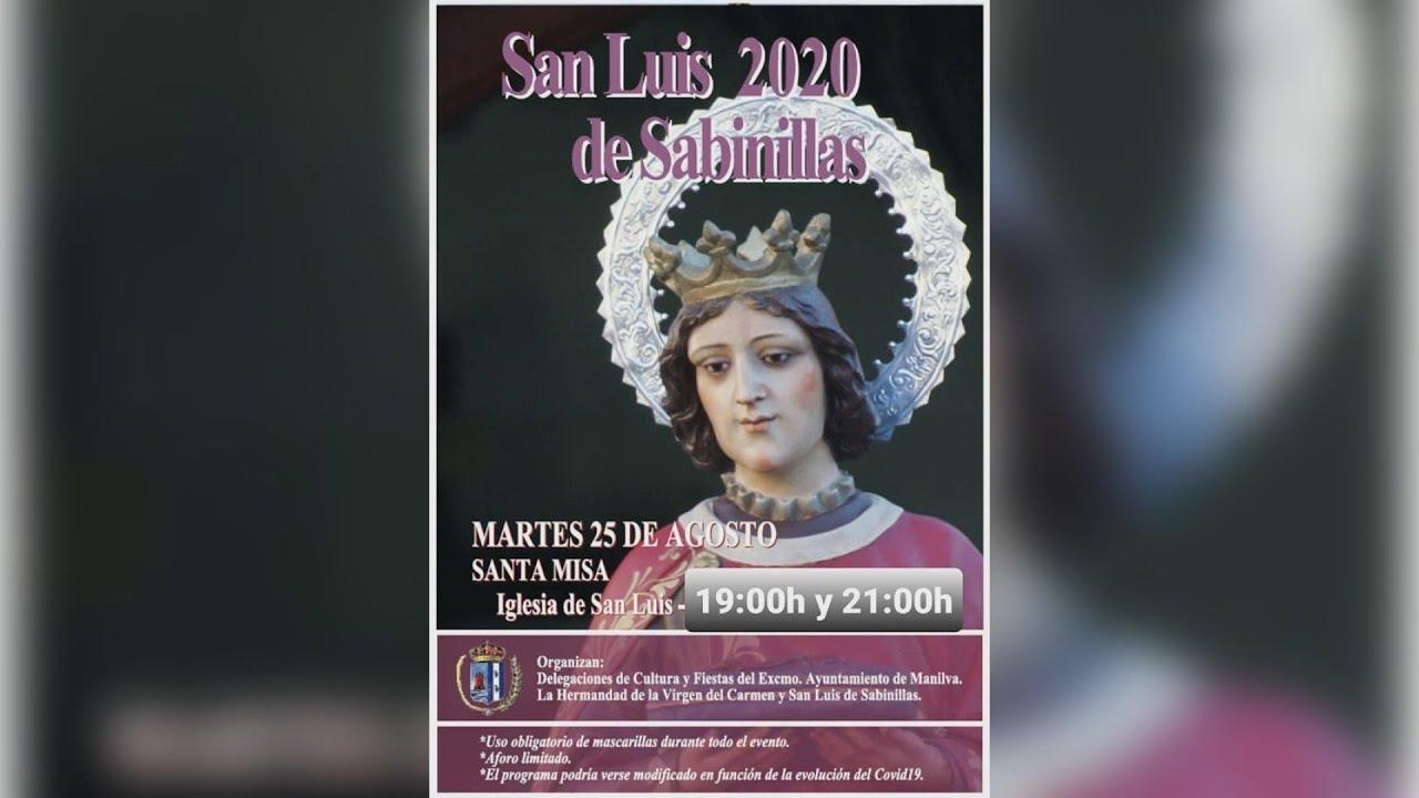Cultura informa sobre las misas en honor a San Luis