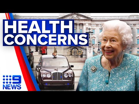Concerns for the Queen's health after cancelled Northern Ireland trip | 9 News Australia