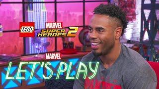 Rashad Jennings & Josh Play LEGO Marvel Super Heroes 2 | Marvel Let