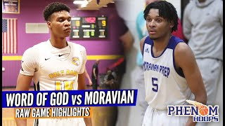 Who's NO. 1 in NC?! Isaiah Todd vs Josh Hall; Word of God - Moravian Prep Raw Game Highlights!