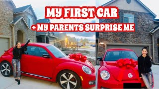 PARENTS SURPRISE ME WITH A CAR // MY FIRST CAR