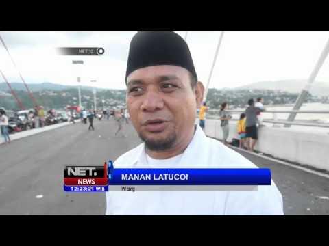 Jembatan Merah Putih Kota Ambon Ditutup Terkait Pembersihan Sampah - NET12