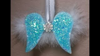 DIY~Make Gorgeous Shabby Chic Angel Wing Ornaments!