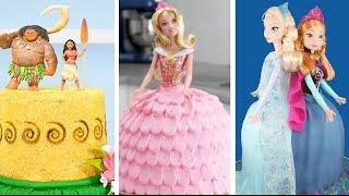 AMAZING PRINCESS CAKES COMPILATION | Moana Tinkerbell Aurora FROZEN Anna & Elsa Cakes