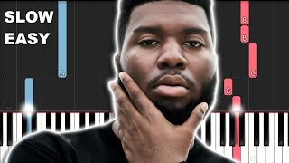 Khalid   Young, Dumb And Broke (SLOW EASY PIANO TUTORIAL)