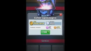 Video Cofre SuperMagico Clash Royale  mas 2 Cofres Magicos Gemas 6625