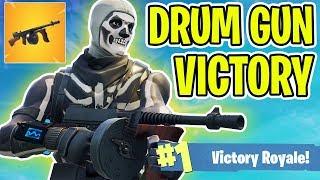 DRUM GUN VICTORY!! - FORTNITE BATTLE ROYALE!