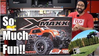 Traxxas X-MAXX 8S Unboxing and RC Car First Run, Crash, Flip and Damage Report!