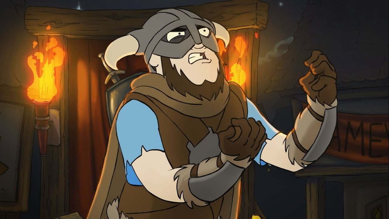 An Unofficial Cartoon Music Video For Skyrim