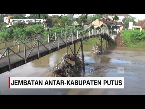 Jembatan Antar Kabupaten Jombang-Mojokerto Putus Diterjang Banjir