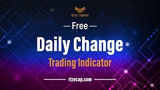 RCDailyChange – FREE Indicator for NinjaTrader 8
