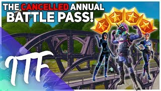 Fortnite's CANCELLED Exclusive Annual Battle Pass!  (Fortnite Battle Royale)