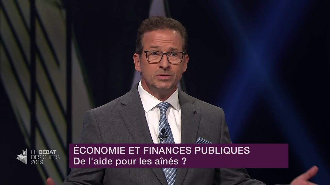 Yves-François Blanchet répond à la question d'un citoyen sur les mesures pour aider les aînés