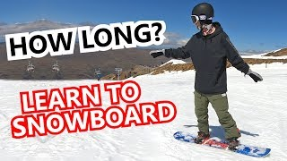 #43 Snowboard begginer – How long to learn snowboarding