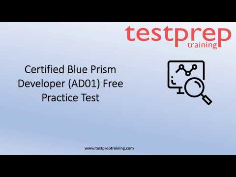 Blue Prism Developer (AD01) free Practice Questions ... - YouTube