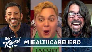 Jimmy Kimmel & Dave Grohl Surprise NY Nurse