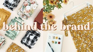 Behind The Brand #4 | Making Wrap Skirts + Mini Sewing Space Tour