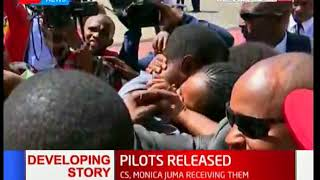 Two Kenyan pilots abducted by South Sudanese rebels in January arrive in the country
