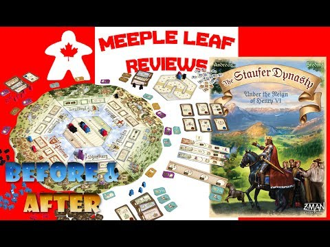 Meeple Leaf Reviews: The Staufer Dynasty - Before & After