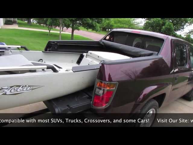 How to Transport Large Kayaks Short Bed Truck, SUV and some Cars using hitch extender!