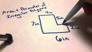 Math Tutorial: Area & Perimeter of Irregular Polygons