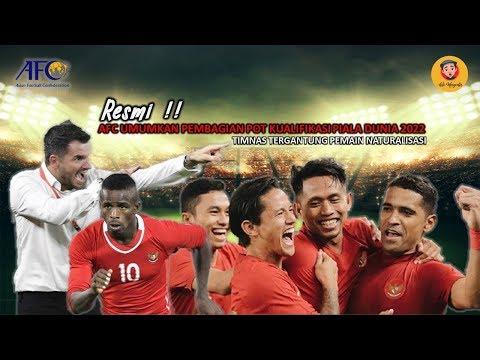 RESMI ! AFC UMUMKAN PEMBAGIAN POT KUALIFIKASI PIALA DUNIA 2022,INDONESIA TERGANTUNG PADA PEMAIN NATU