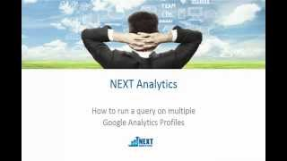 How to run a query on multiple Google Analytics Profiles