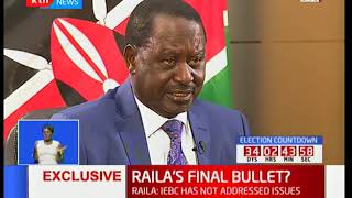 Presidential candidate Raila Odinga makes statement on evidence on electoral malpractice