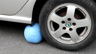 Running The UNPOPPABLE BALL Over With A Car... - Impossible Challenge