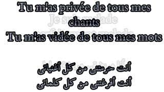 Je Suis Malade _ Lara Fabian  French  & Arabic Lyrics ( مترجمة )